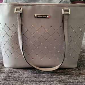 Extra Large Michael Kors Carry All Grey Studded Tote